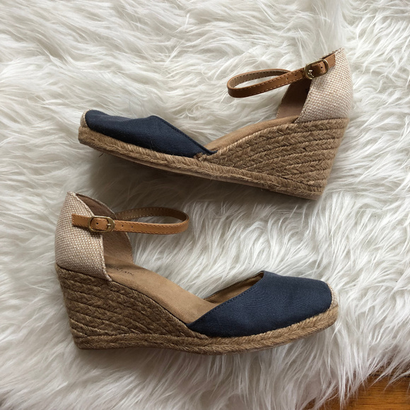 a72a2cd6093 White Mountain | Navy Mamba Espadrille Wedges 8.5